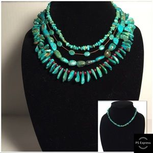 Jewelry - Small Turquoise Pebbles Necklace